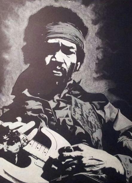 Jimi Hendrix by LUDO